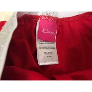 Disney Bottoms - Disney Tutu Mini Skirt Red Silver Polka Dot Sz 6X